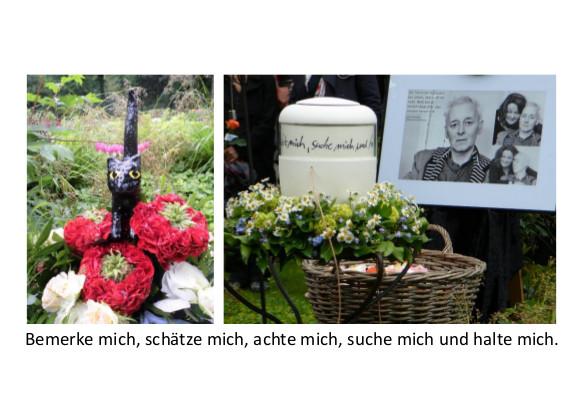 Trauer um Dieter Asselhoven Köln (Urne)